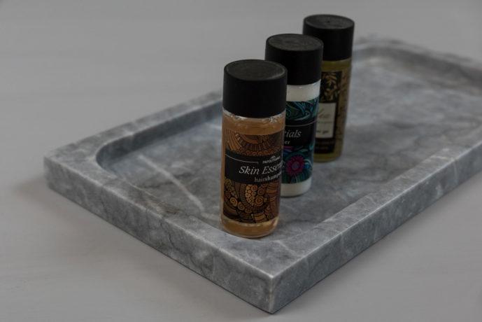 Bathroom Tray Grey In Use