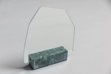 Marble Mirror Hex Green