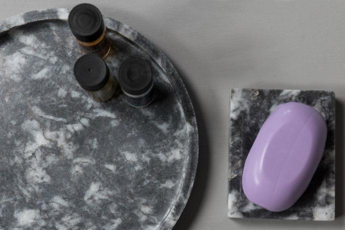 Circle Tray marble 2