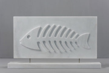 fishbone marble decor