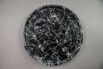 circle tray marble